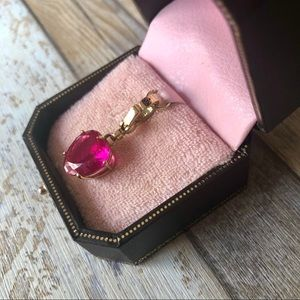 Juicy Couture Jewelry - Juicy Couture Pink Heart Gemstone Charm Pendant